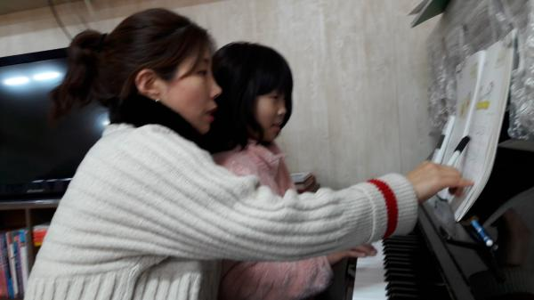 피아노가 재미 있어요.~ 피아노를 배울 수 있게 해주셔서 감사합니다.