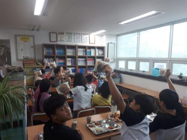 7월 주촌지역아동센터 착한 빵 사진과 감사편지입니다.