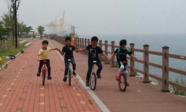 도전 외발자전거 타기